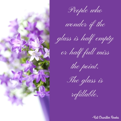 People who wonder if the glass is half empty or half full miss the point. 
